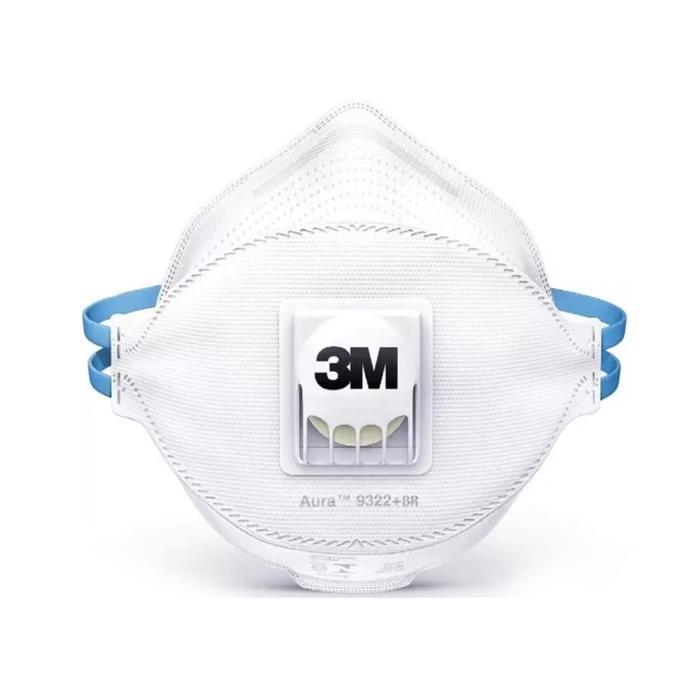 KIT 50 Máscara Respiratória 3M AURA PFF2 9322 C/ Válvula
