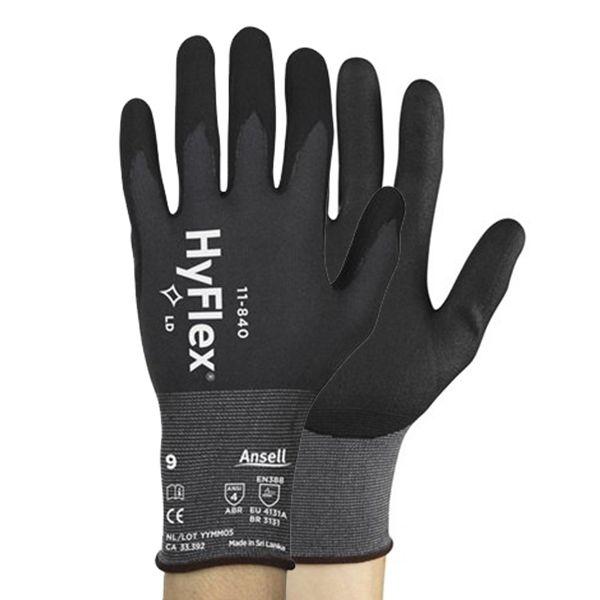 Kit 6 Pares Luvas De Proteção Mecânica Ansell Hyflex 11-840