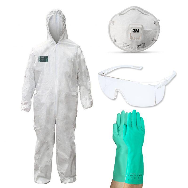 e30e85919bd09 Confira nossa linha completa em Kit Proteção Pintura Macacão + Luva ...