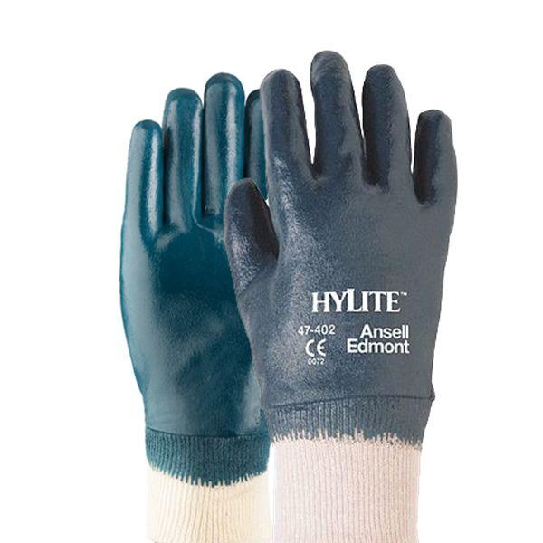 Luva Proteção Química Nitrílica Ansell Hylite 47-402 - Par