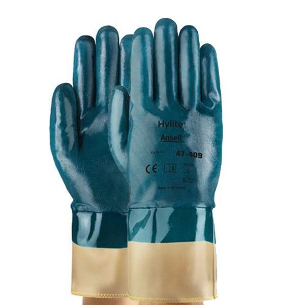 Luva Proteção Química Nitrílica Ansell Hylite 47-409 - Par