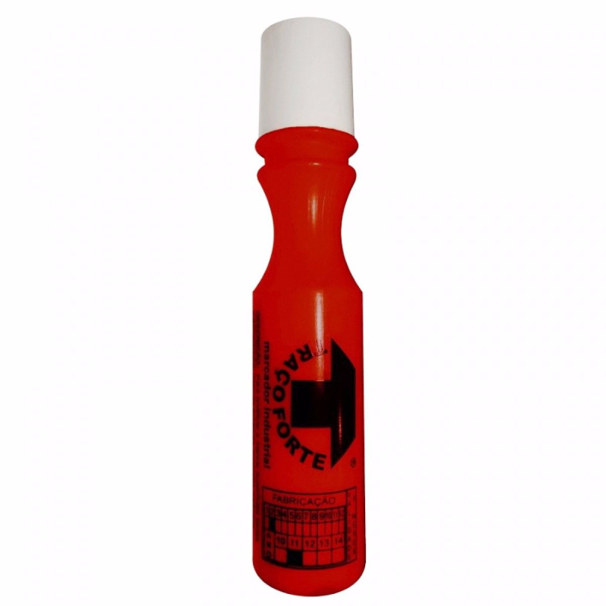 Marcador Industrial Vermelho 60ml 3mm Traço Forte - Baden