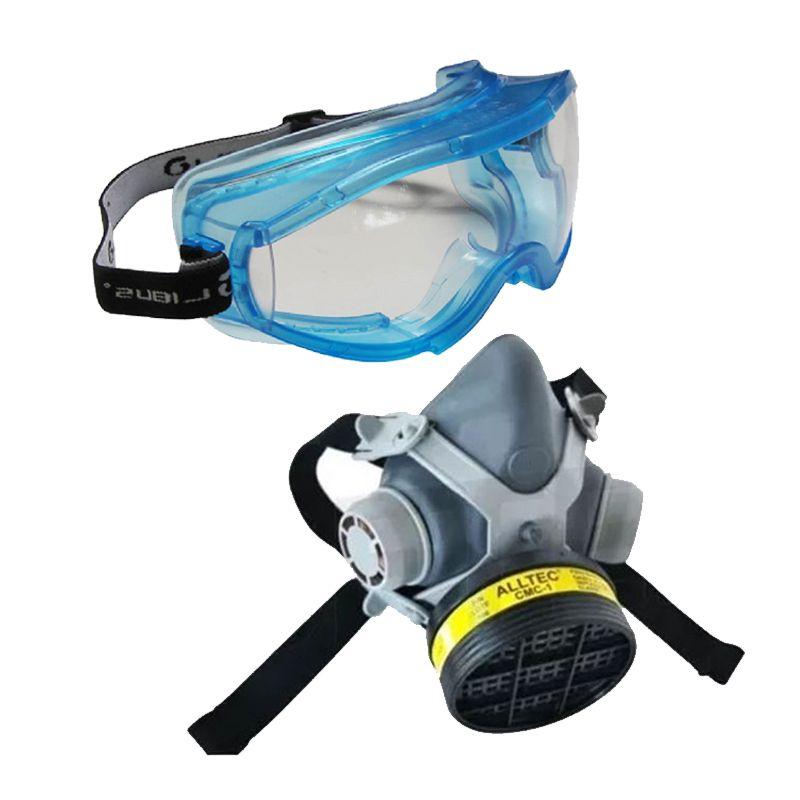 Mascara Respiratória C/ Filtro VO/GA + Óculos ampla visão Libus