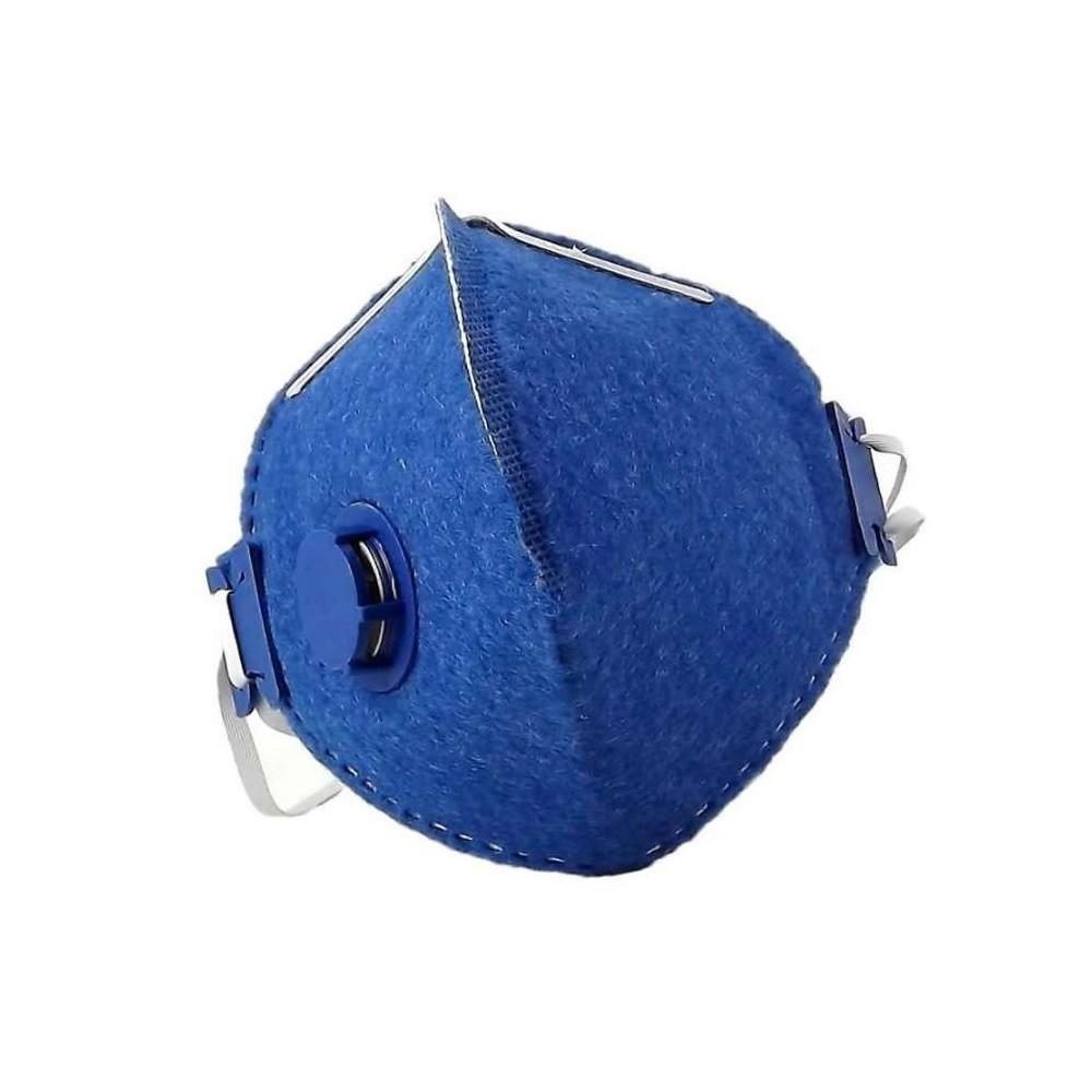 Mascara pff2 Respiratória de Proteção Semifacial Azul com Válvula - LEDAN