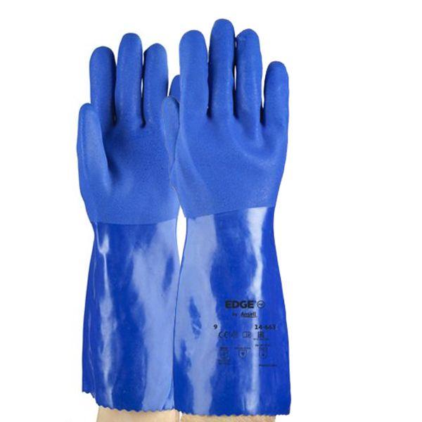 Luva De Proteção Quimica Ansell Superflex 36cm 14-663 - Par