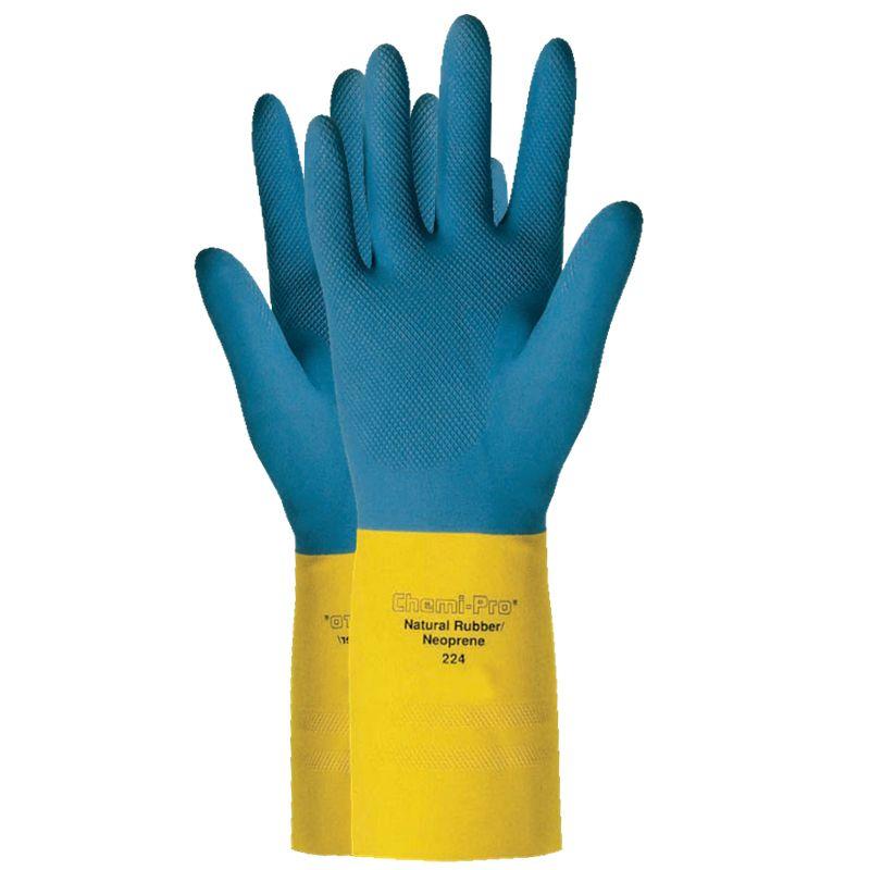 Luva De Proteção Quimica Látex Ansell Chemi-Pro 224 - Par