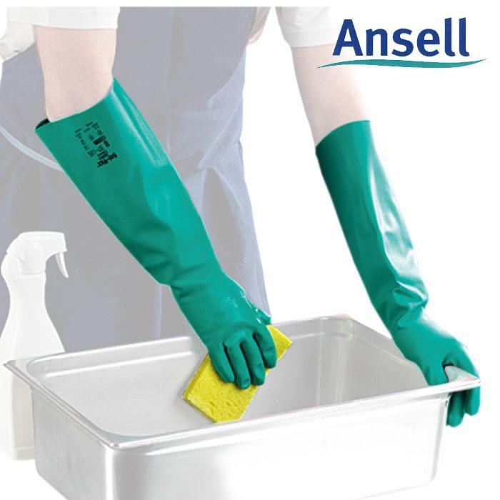 Luva De Proteção Quimica Nitrílica Ansell Sol-vex 37-185 - Par