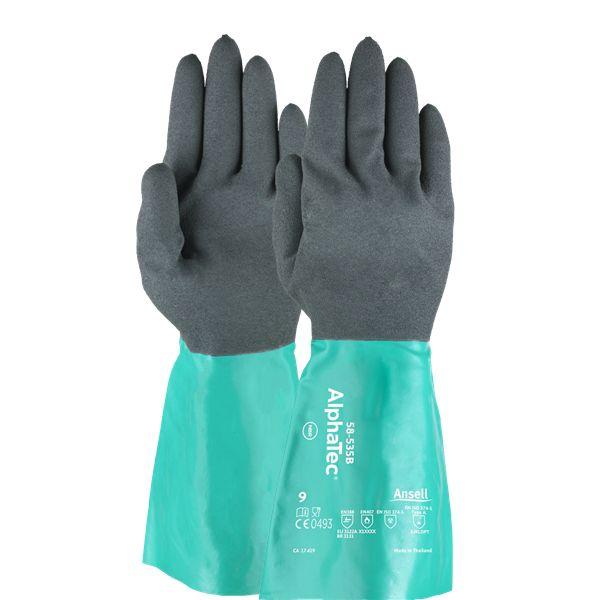 Luva Proteção Química Nitrílica Ansell Alpha Tec 58-535 - Par