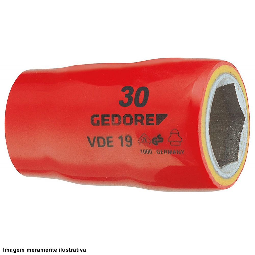 Soquete Sextavado VDE 19 - 30mm - Gedore