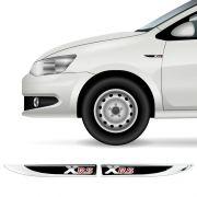 2 Protetores Paralama Corolla Xrs Black Aplique Resinado