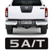 Adesivo 5 A/T Nissan Frontier 08/15 Emblema Tampa Traseira