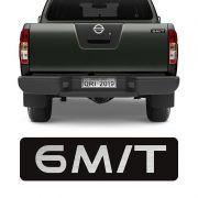 Adesivo 6 M/T Nissan Frontier 08/15 Emblema Tampa Traseira