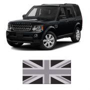 Adesivo Resinado Bandeira Inglaterra Land Rover Black White