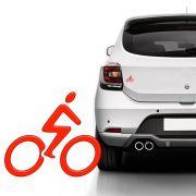 Adesivo Universal Bike Ciclismo Vermelho Refletivo Resinado