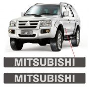 Adesivos Mitsubishi Pajero Sport 2009 Emblema Porta Grafite