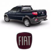 Emblema Da Maçaneta Tampa Traseira Fiat Strada Resinado
