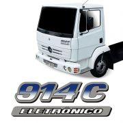 Emblema Do Capô 914C Eletrônico Mercedes Adesivo Caminhão