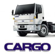 Emblema Ford Cargo /12 Capô Caminhão Adesivo Azul Resinado