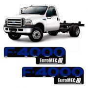 Emblema Ford F-4000 Euromec Adesivo Resinado Modelo Original