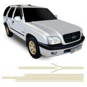 Faixa Blazer Executive 2001/2002 Adesivo Lateral Dourado