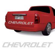 Faixa Chevrolet Corsa Picape Pick-Up Tampa Traseira Prata