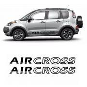 Faixa Lateral Aircross Até 2015 Adesivo Preto Citroen