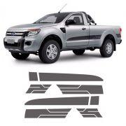Faixa Lateral Ranger Cs Sport Xls 14/16 2P Adesivo Grafite