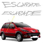 Adesivo Escapade Peugeot 206 SW Emblema Lateral Prata