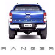 Faixa Traseira Ford Ranger 2013/ Adesivo Prata e Preto