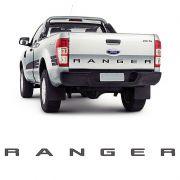 Faixa Traseira Ford Ranger 2013/ Adesivo Grafite e Preto
