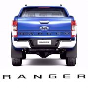 Faixa Traseira Ford Ranger 2013/ Adesivo Preto e Prata