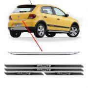 Friso Porta-Malas Gol G5 Rallye + Kit Soleira Protetora