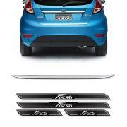 Friso Porta-Malas New Fiesta Hatch + Kit Soleira Protetora