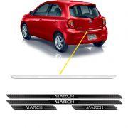 Friso Porta-Malas Nissan March 2015/ + Kit Soleira Protetora