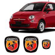 Kit 3 Adesivos Emblema Fiat 500 Abarth
