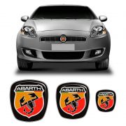 Kit 3 Adesivos Emblema Fiat Bravo Abarth