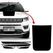 Kit Adesivo Capô Jeep Compass 2017/2019 E Soleira Protetora