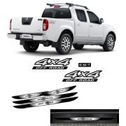Kit Adesivos 4x4 Off Road Frontier 6m/t + Soleira Black Over