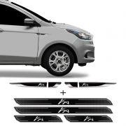 Kit Aplique Lateral Ka Novo Hatch Sedan + Soleira Protetora