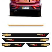 Kit Cruze Sport6 Turbo Soleira Black Over e Friso Gold 17/18