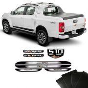 Kit Emblemas Resinados S10 High Country + Soleira Protetora