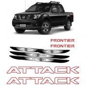 Kit Faixa Frontier Attack Vermelho + Soleira Com Black Over