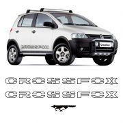 Kit Faixas Crossfox 2006 07 Adesivo Lateral Preto Volkswagen