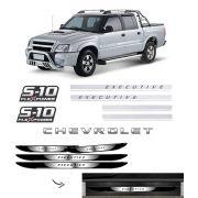 Kit S10 Executive Flex Power Vermelho + Soleira Black Over