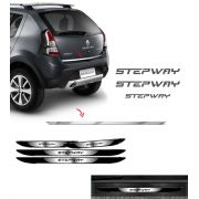 Kit Sandero Stepway Grafite 12 + Friso + Soleira Black Over