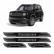 Kit Soleira Da Porta Diamante Jeep Renegade 16/18 Resinada
