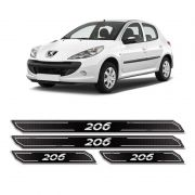 Kit Soleira Da Porta Diamante Peugeot 206 Adesivo Resinado