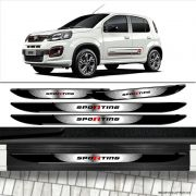 Kit Soleira Da Porta Fiat Uno Sporting 2017 Com Black Over