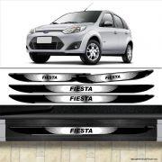 Kit Soleira Da Porta Fiesta Com Black Over Resinado Cromado