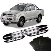 Kit Soleira Da Porta Hilux 05/ Com Black Over Resinado